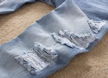 Как сделать джинсы потертыми в домашних условиях