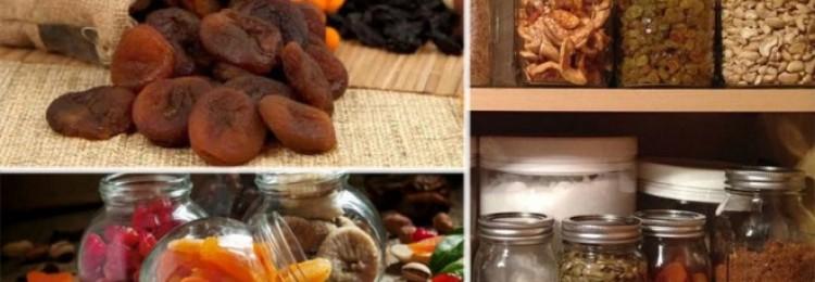 Как хранить сухофрукты в домашних условиях