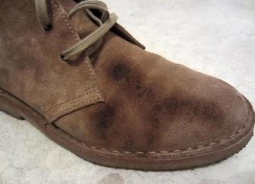 Как вывести пятно с замшевой обуви