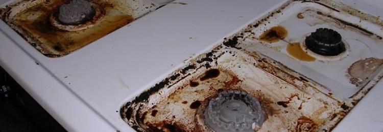 Как отмыть плиту от жира и нагара