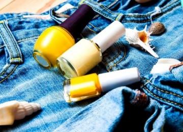 Как отстирать лак для ногтей с одежды