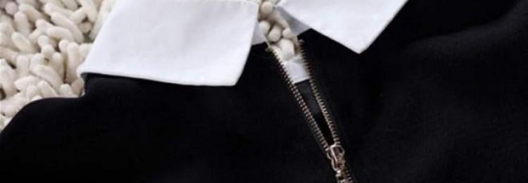 Как отбелить белый воротник у черного платья