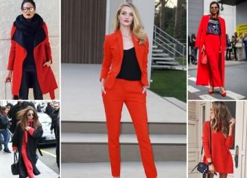 Красный цвет в гардеробе, с чем он идеально сочетается