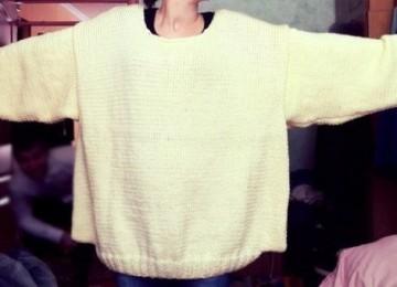 Как уменьшить свитер, который растянулся