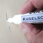 Чем отмыть чернила или пасту шариковой ручки с кожзама