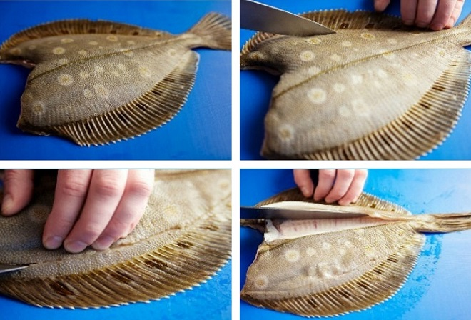 Как почистить рыбу целиком и удалить плавники и голову