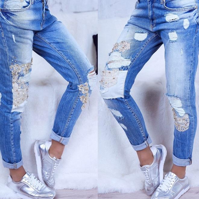 джинсы с кружевом фото вам