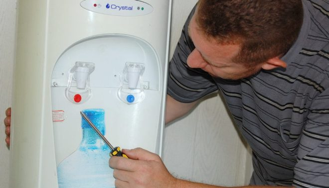 Чистка кулера для воды