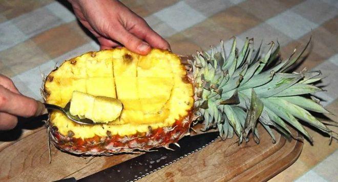 Как правильно почистить ананас