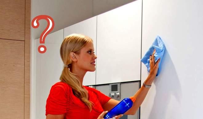 Чем мыть глянцевую кухню