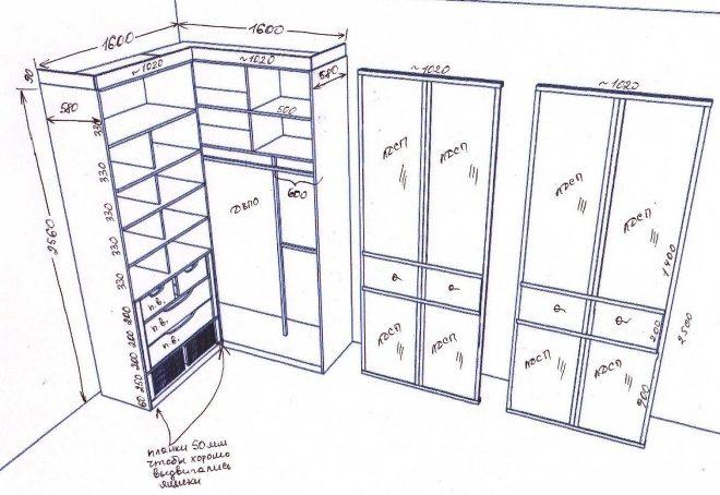 Как собрать угловой шкаф своими руками