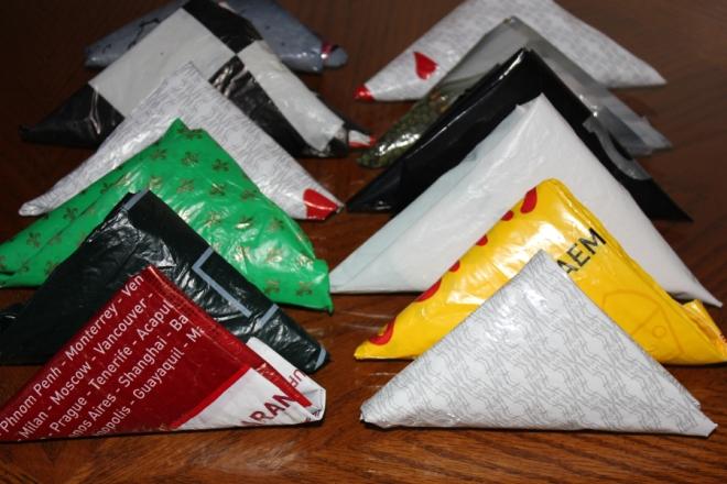 Как компактно сложить пакеты