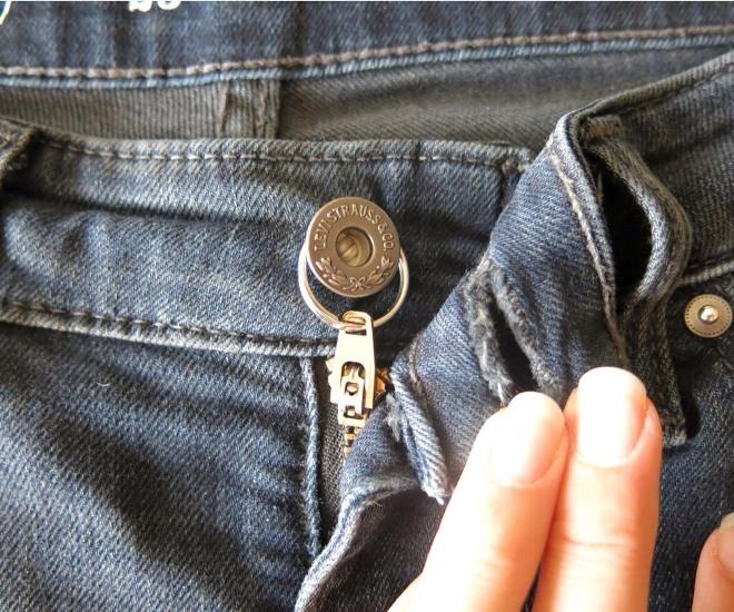 Как починить молнию на джинсах