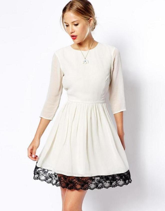 Как удлинить платье, если оно короткое