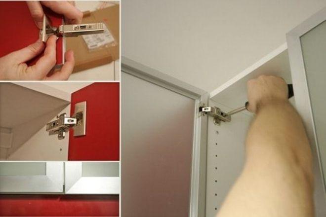 Как установить доводчик на кухонный шкаф