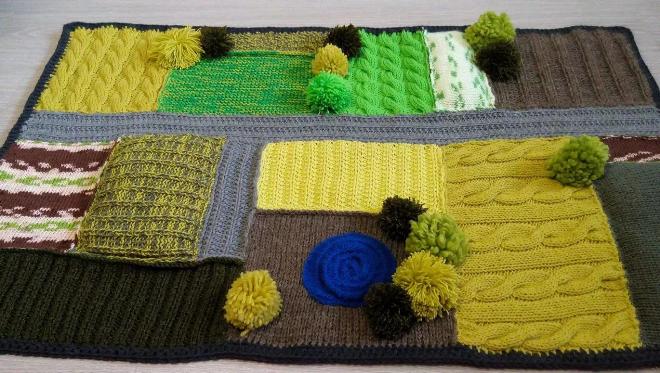 Как связать коврик своими руками из пряжи