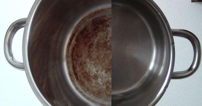 Как отмыть пригоревшую кастрюлю из нержавейки