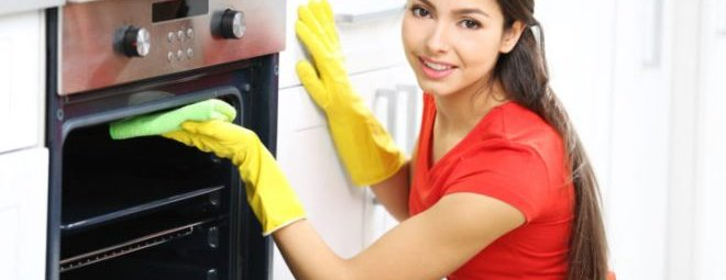 Борьба с жиром за чистоту духовки