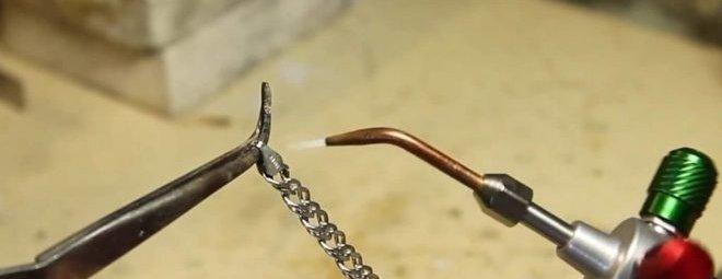 Как спаять серебряную цепочку в домашних условиях