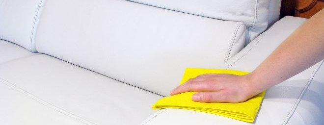 Как почистить белый диван из экокожи