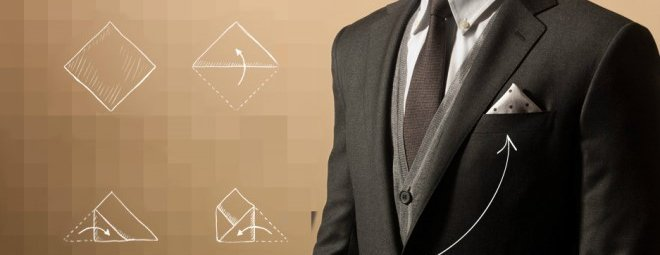Как сложить платок в карман пиджака